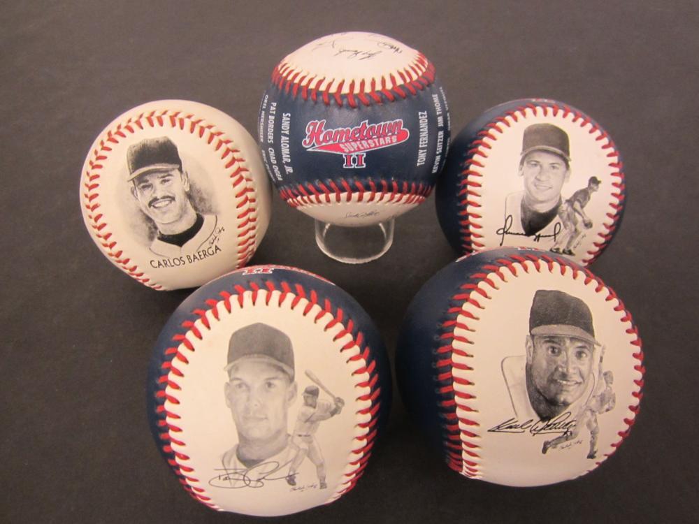 Carlos Baerga Omar Vizquel Sandy Alomar Hometown Superstars baseballs