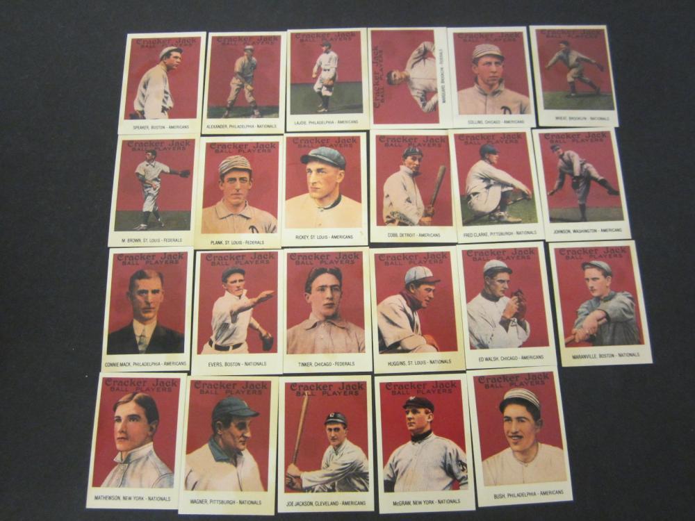 1915 Cracker Jack Baseball card set 1993 Reprint Ty Cobb Joe Jackson + others