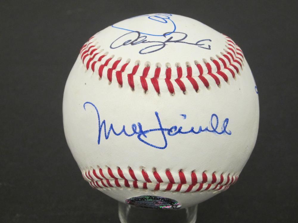 Carrie Fisher Daniels Mark Hamill Harrison Ford Mayhew Signed baseball Certified Coa