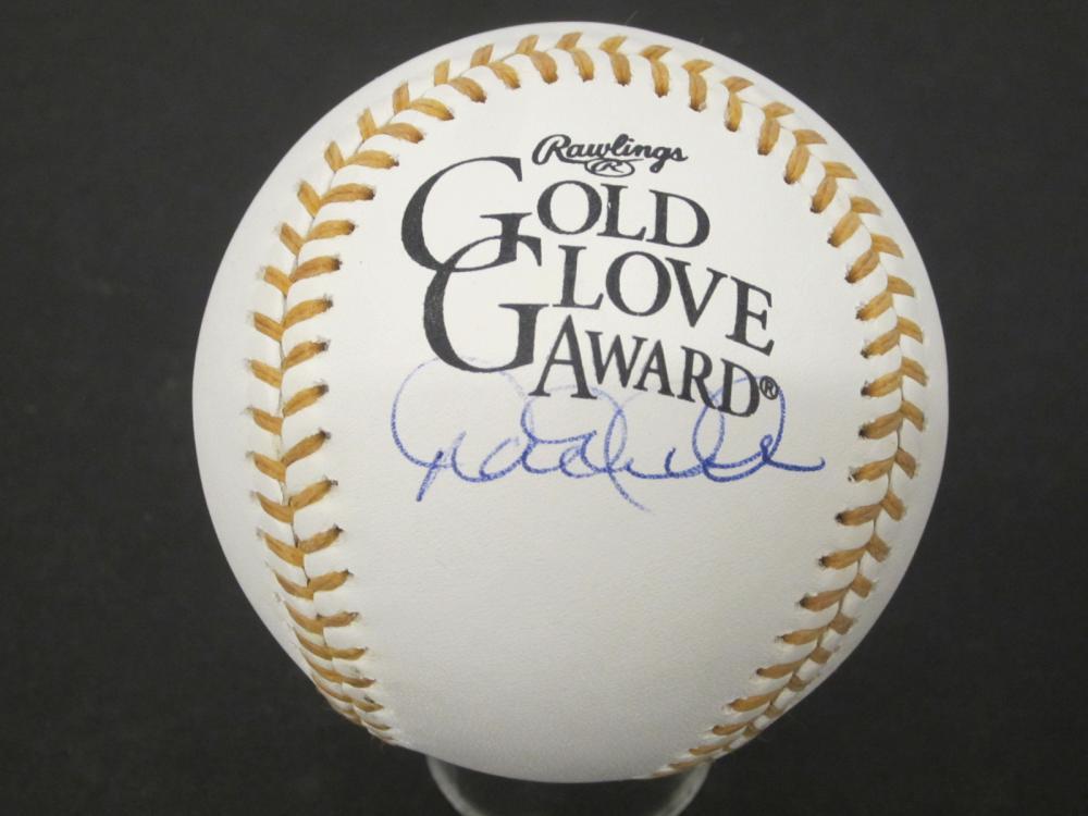 Derek Jeter New York Yankees Signed Gold Glove OMLB Certified Coa