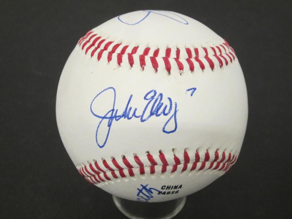 Joe Namath Joe Montana John Elway Signed Autographed Rawlings baseball Certified Coa