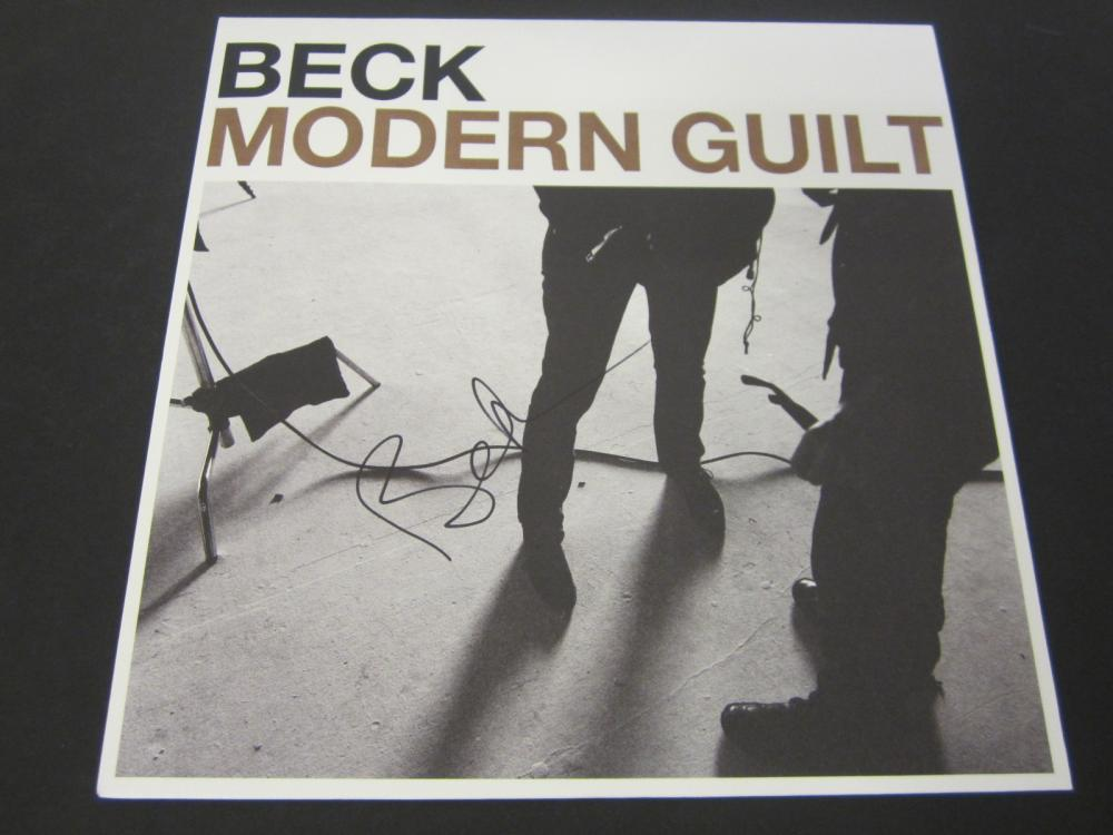 "Beck ""Modern Guilt"" Signed Autographed record album Certified Coa"