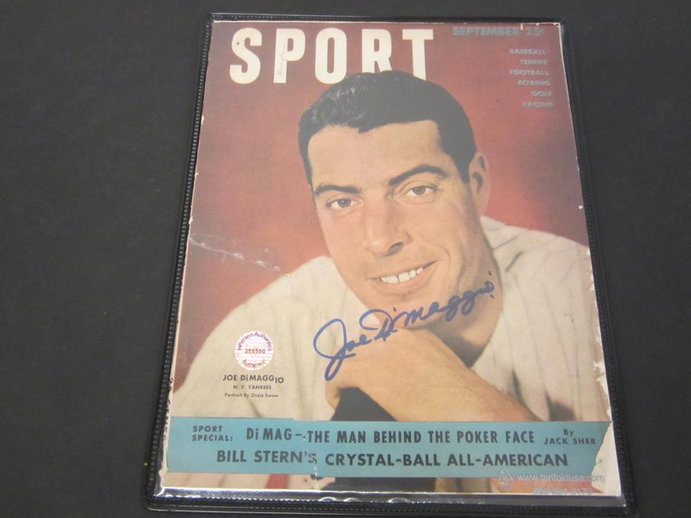 Joe DiMaggio New York Yankees Signed Autographed Magazine Certified Coa