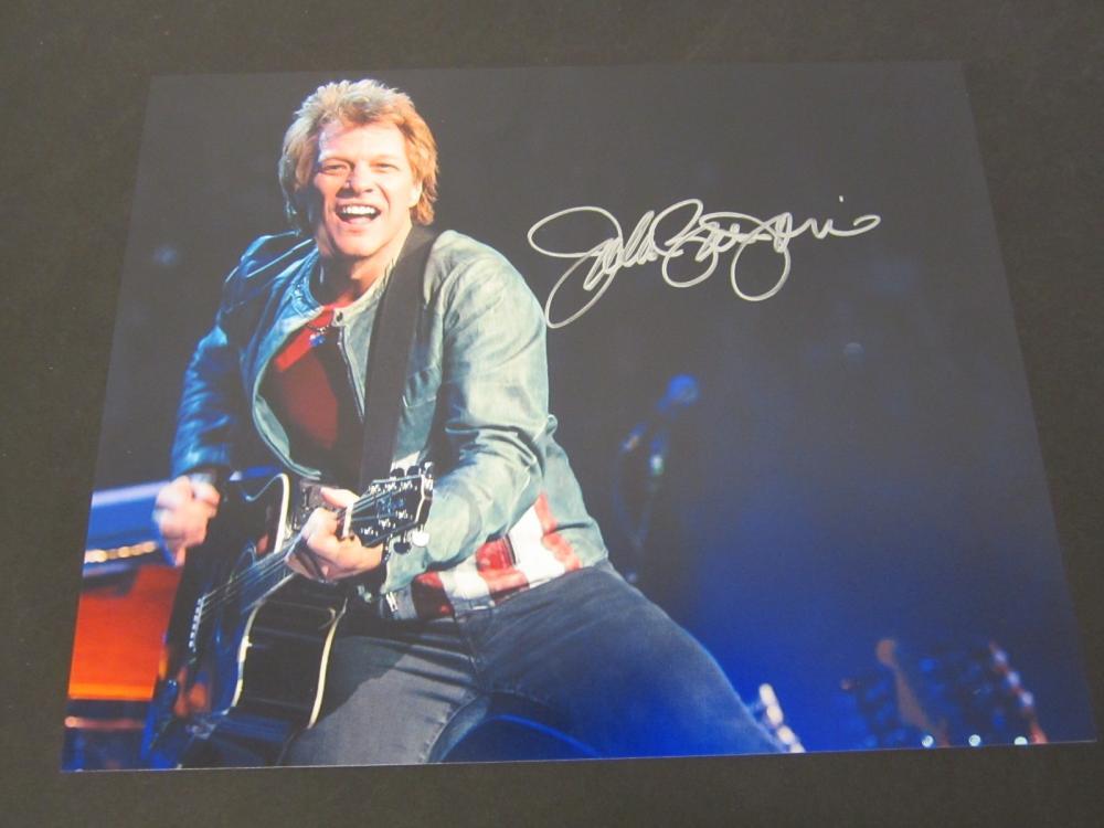 John Bon Jovi Signed Autographed 8x10 color photo Certified Coa