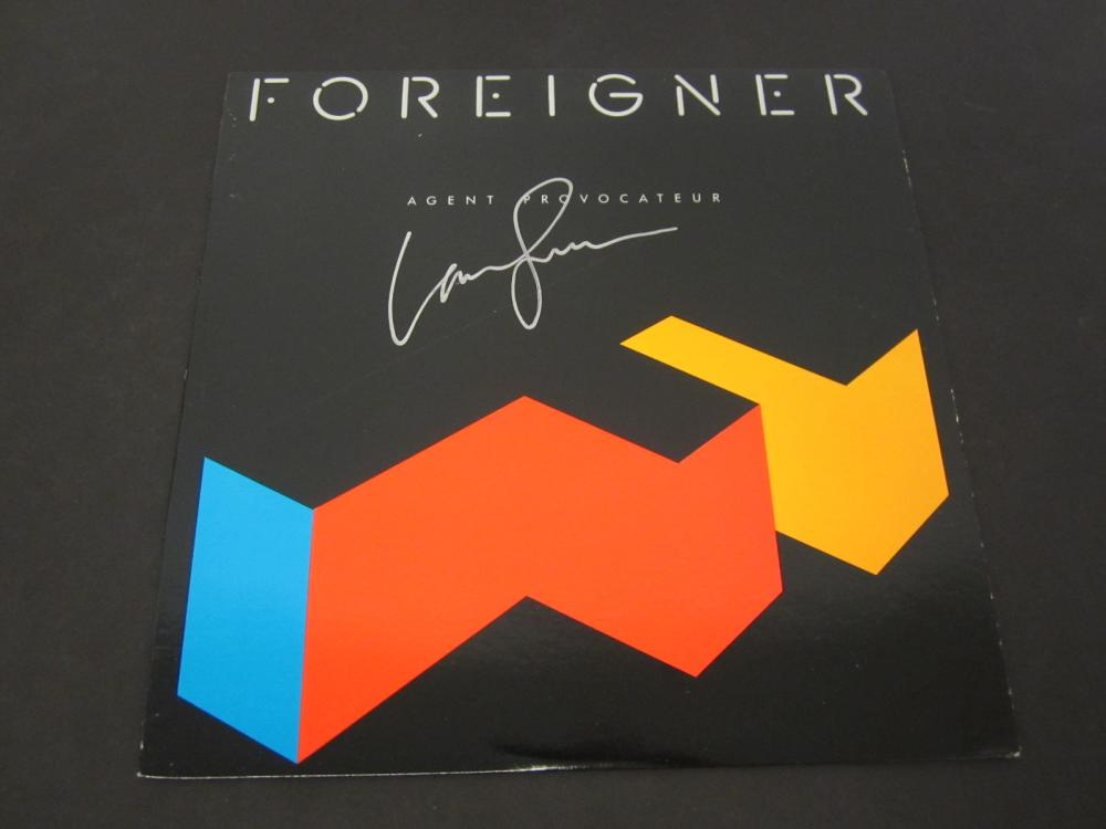 Lou Gramm Foreigner Signed Autographed record album Certified Coa