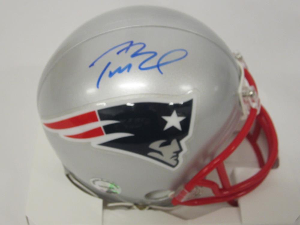 Tom Brady New England Patriots Signed Autographed mini helmet Certified Coa