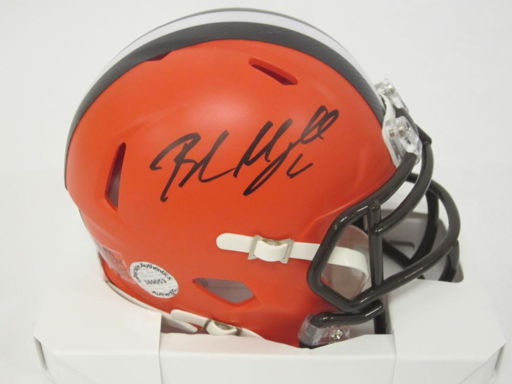 Baker Mayfield Cleveland Browns Signed Autographed mini helmet Certified Coa
