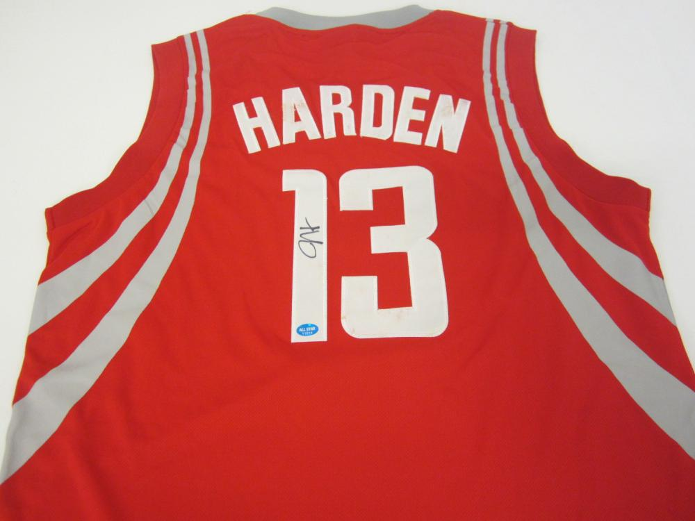 James Harden Houston Rockets Signed Autographed jersey Certified Coa