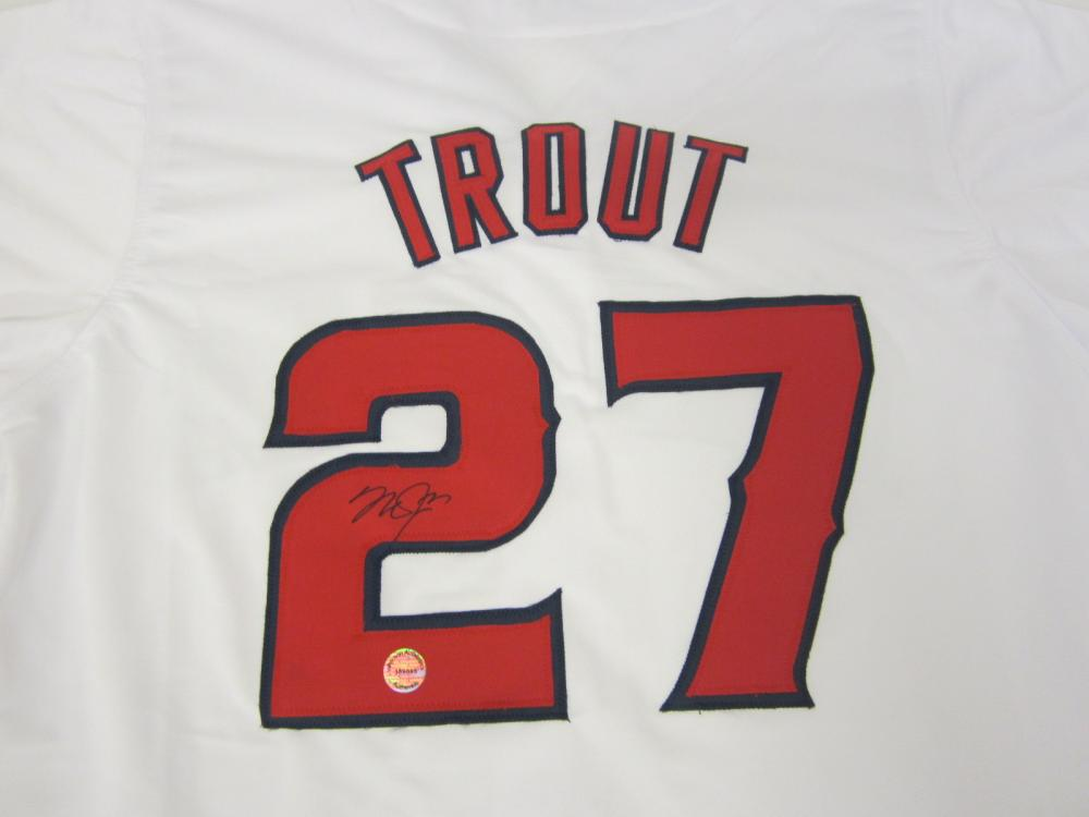 Mike Trout Anaheim Angels Signed Autographed jersey Certified Coa