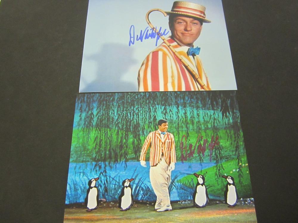 """Dick Van Dyke """"Chitty Chitty Bang Bang"""" Signed 2 photos 8x10 Certified Coa"""
