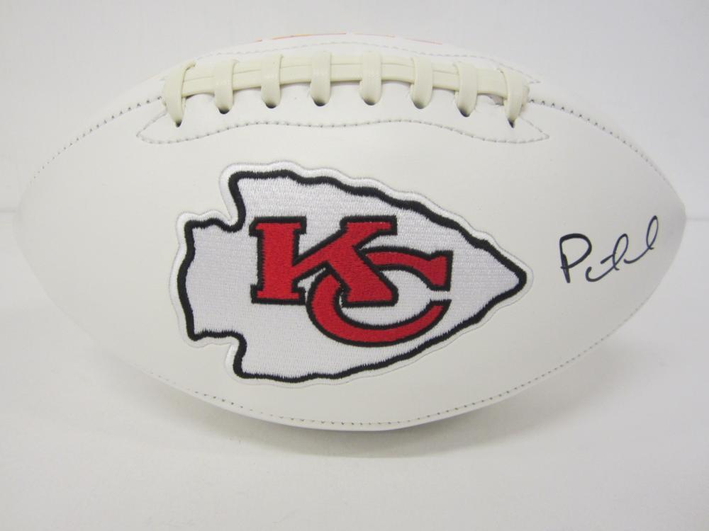 Patrick Mahomes Kansas City Chiefs Signed Autographed logo football Certified Coa