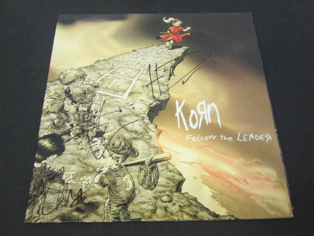 KORN Johnathan, James, Brian and Roy Signed record album Certified Coa
