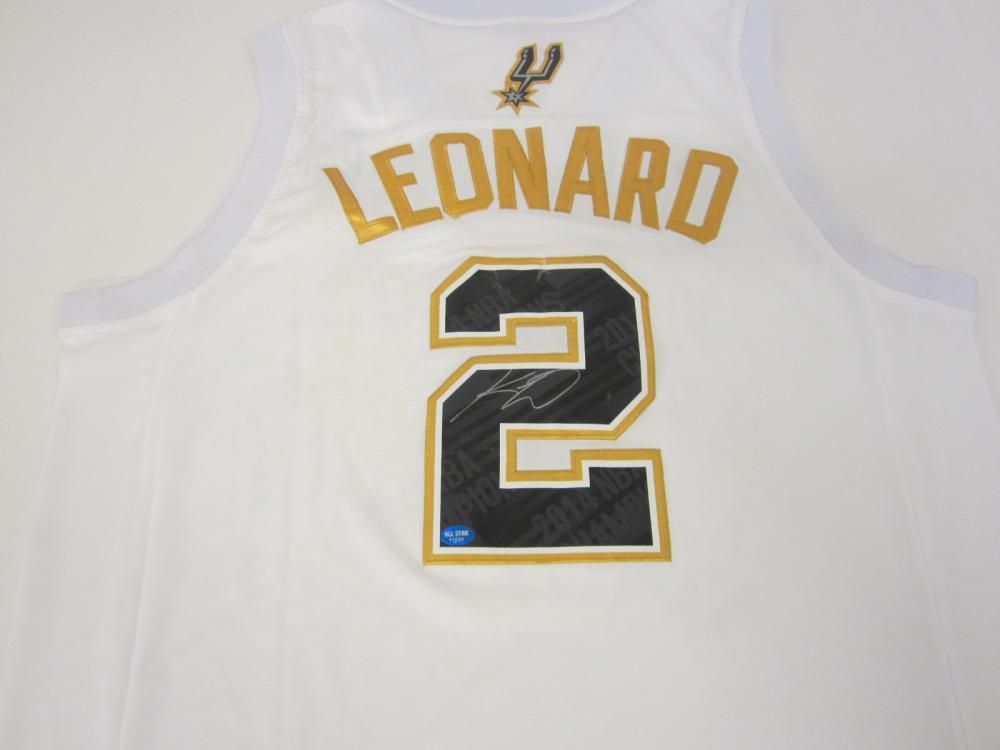 Kawhi Leonard San Antonio Spurs Signed Autographed jersey Certified Coa