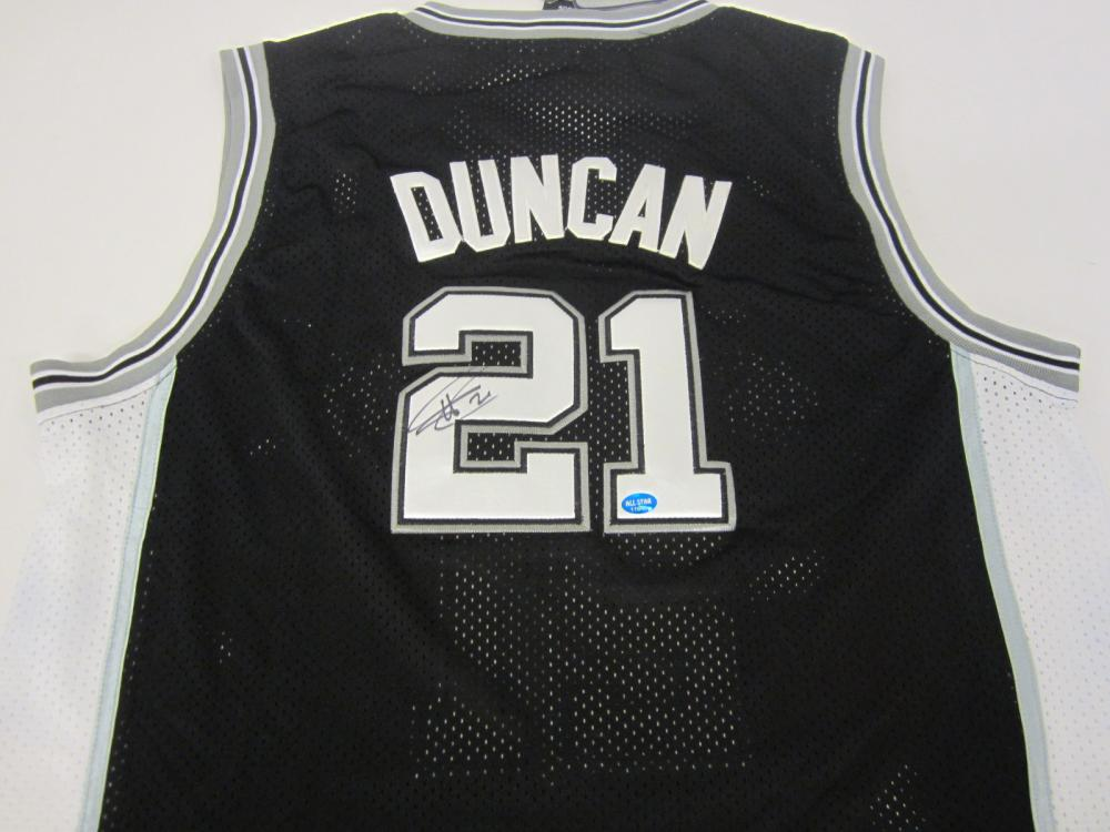 Tim Duncan San Antonio Spurs Signed Autographed jersey Certified Coa