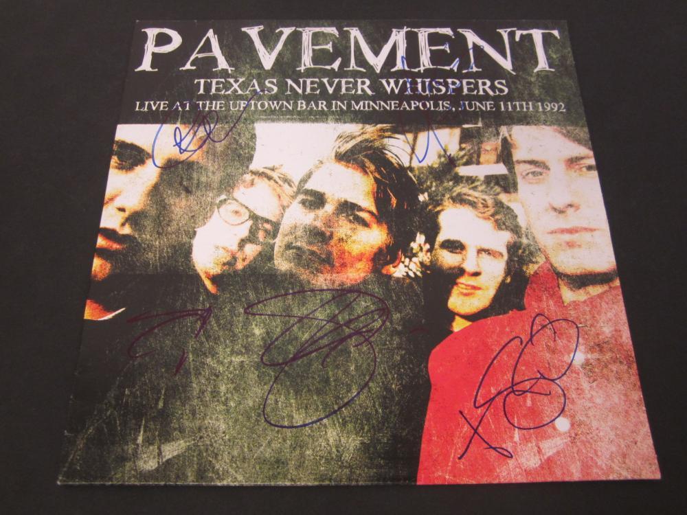 Pavement Bob, Scott, Stephen, Steve Signed Autographed record album Certified Coa