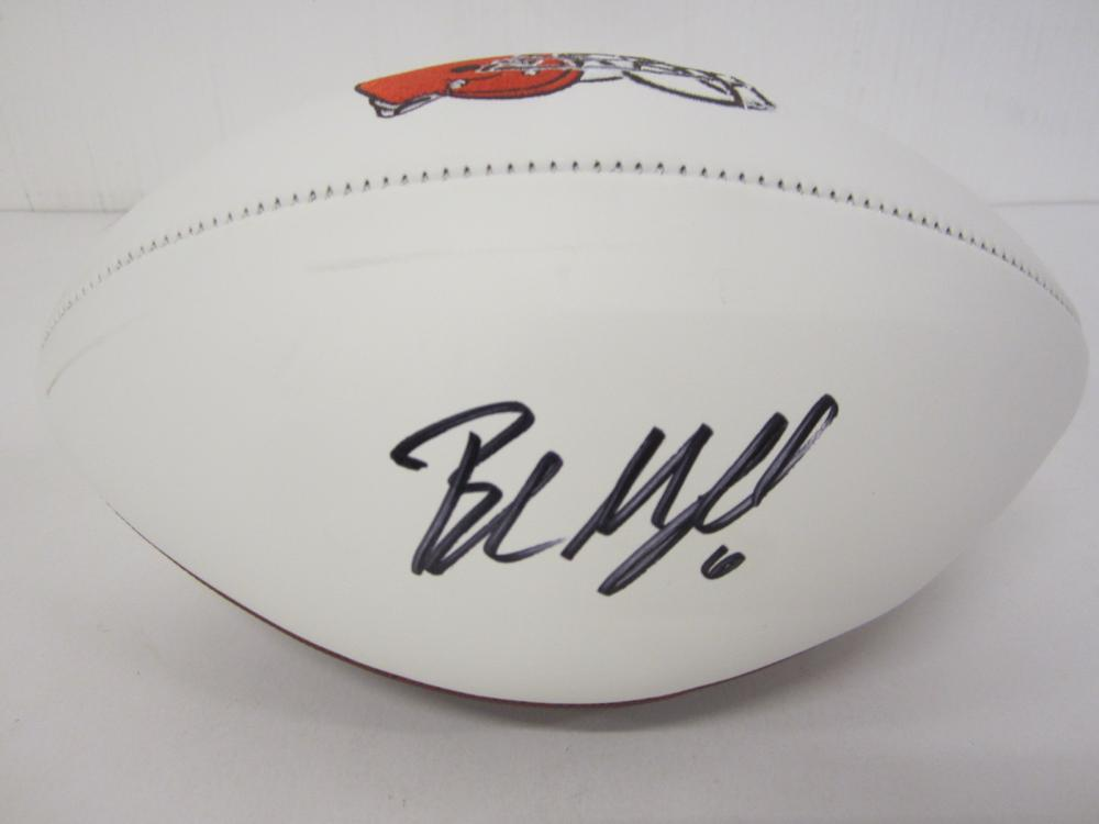 Baker Mayfield Cleveland Browns Signed Autographed logo football Certified Coa