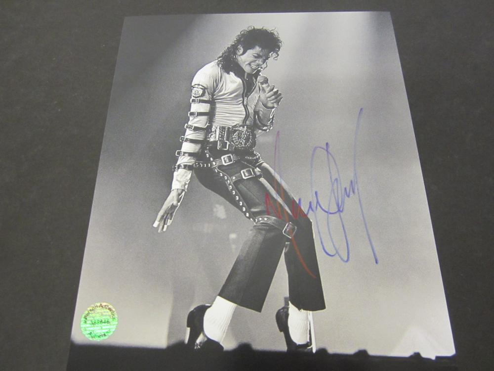 Michael Jackson Signed Autographed 8x10 photo Certified Coa