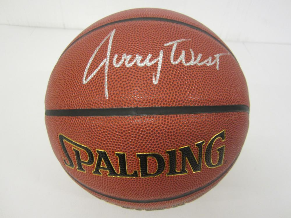 Jerry West LA Lakers Signed Autographed full size basketball Certified Coa