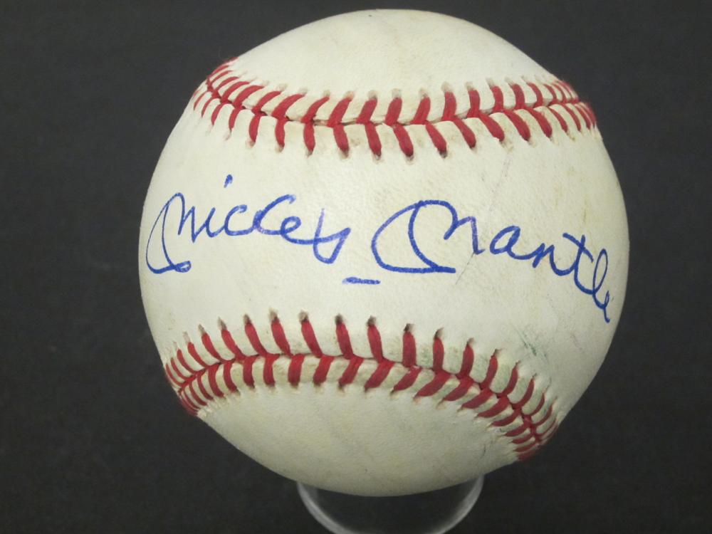 Mickey Mantle NY Yankees Signed Autographed OAL baseball Certified Coa