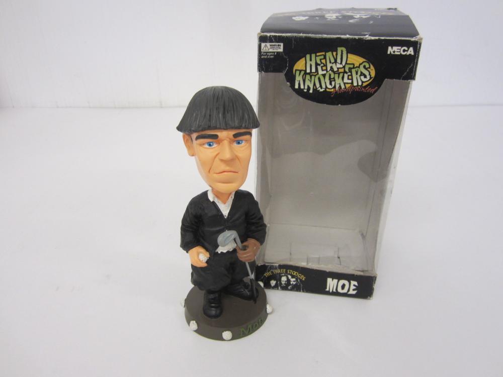 Moe Three Stooges Head Knockers Limited edition Bobblehead w/box