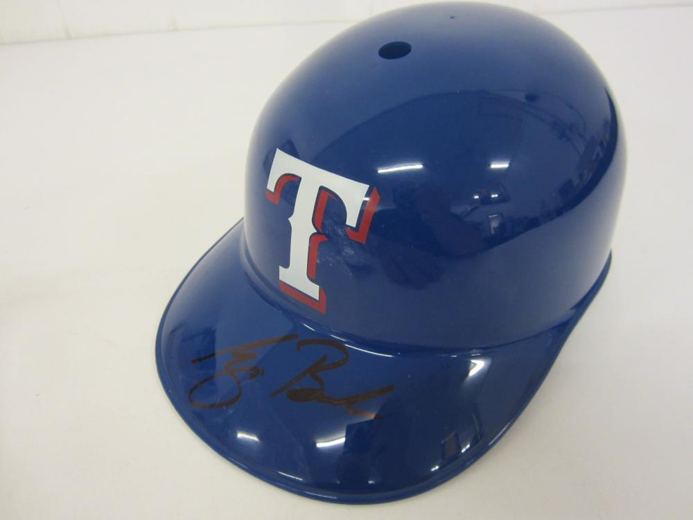 George Bush President Texas Rangers Signed souvenir batting helmet Certified Coa