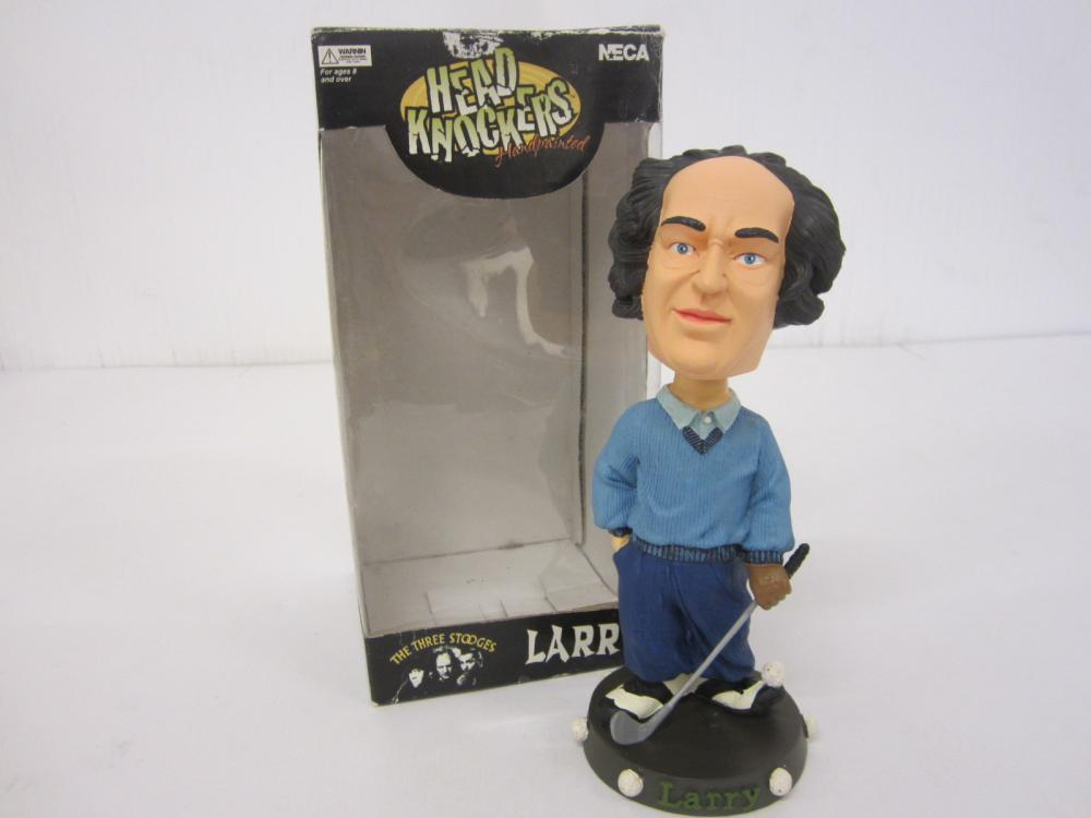 Larry Three Stooges Head Knockers Limited edition Bobblehead w/box
