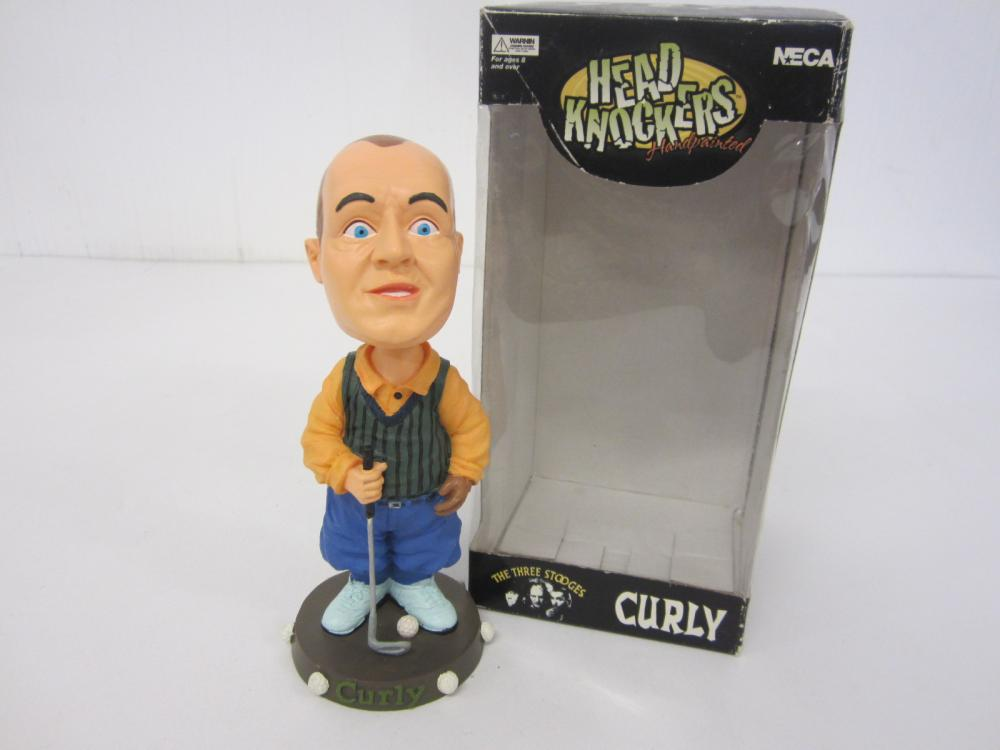 Curly Three Stooges Head Knockers Limited edition Bobblehead w/box