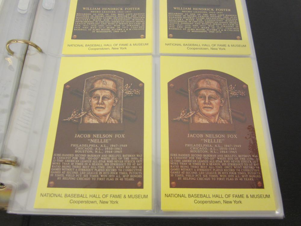 National baseball Hall of Fame Collectors postcards HUGE lot Nellie Fox +others