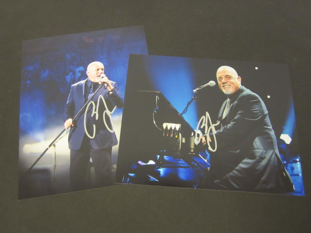 (2) Billy Joel Signed Autographed 8x10 photos Certified Coa