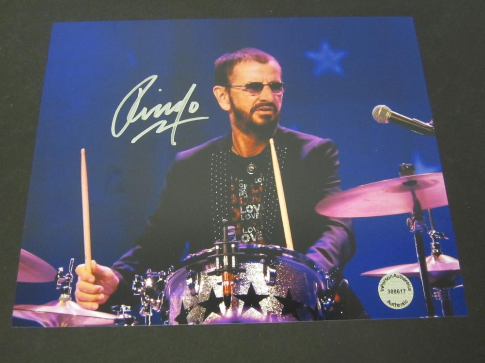 Ringo Starr Beatles Signed Autographed 8x10 photo Certified Coa