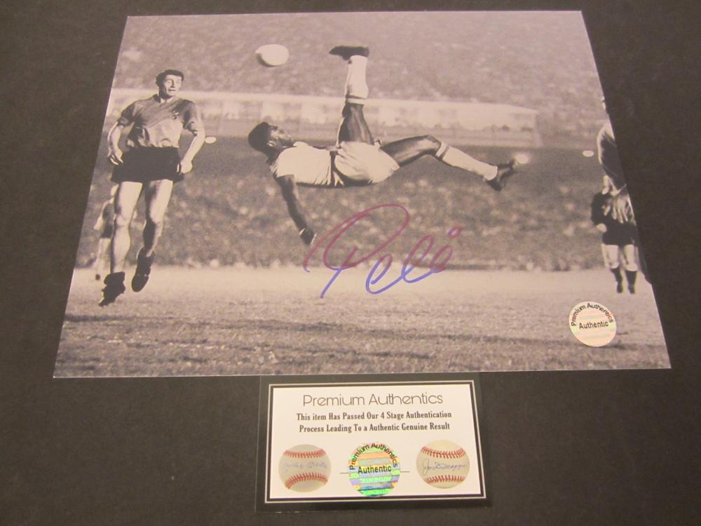 Pele Signed Autographed 8x10 soccer photo Certified Coa