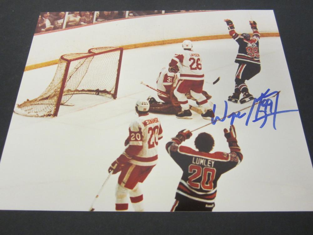Wayne Gretzky Edmonton Oilers Signed Autographed 8x10 photo Certified Coa