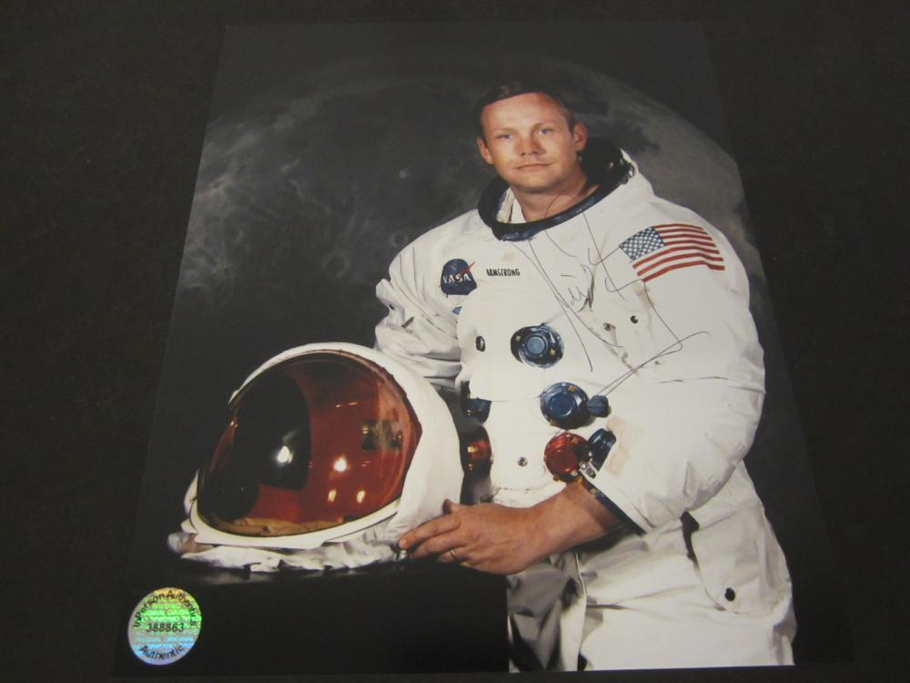 Neil Armstrong Astronaut Signed Autographed 8x10 photo Certified Coa