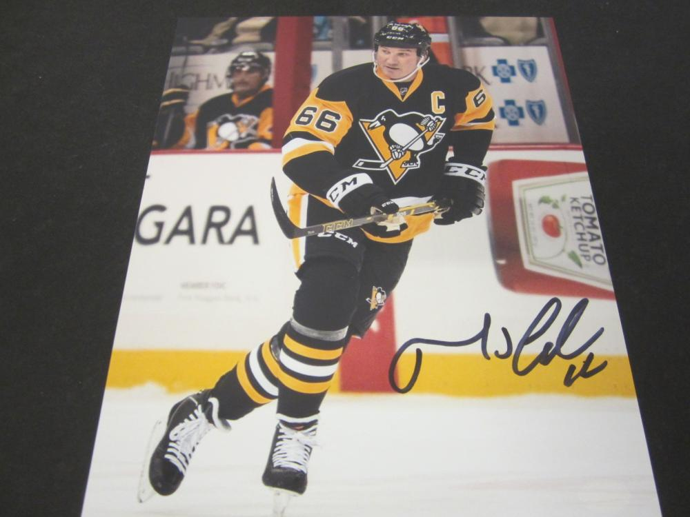 Mario Lemieux Pittsburgh Penguins Signed Autographed 8x10 photo Certified Coa