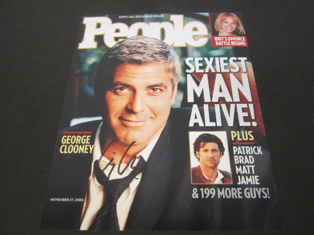 George Clooney Signed Autographed People Magazine Certified Coa