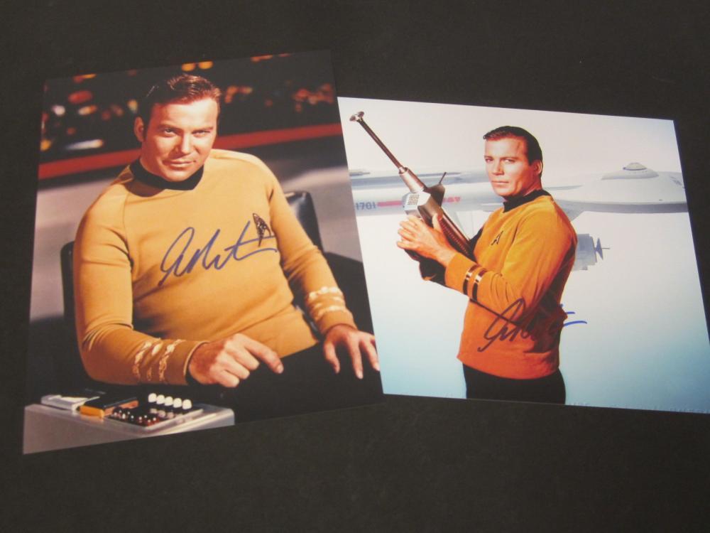 (2) William Shatner Star Trek Signed Autographed 8x10 photos Certified Coa