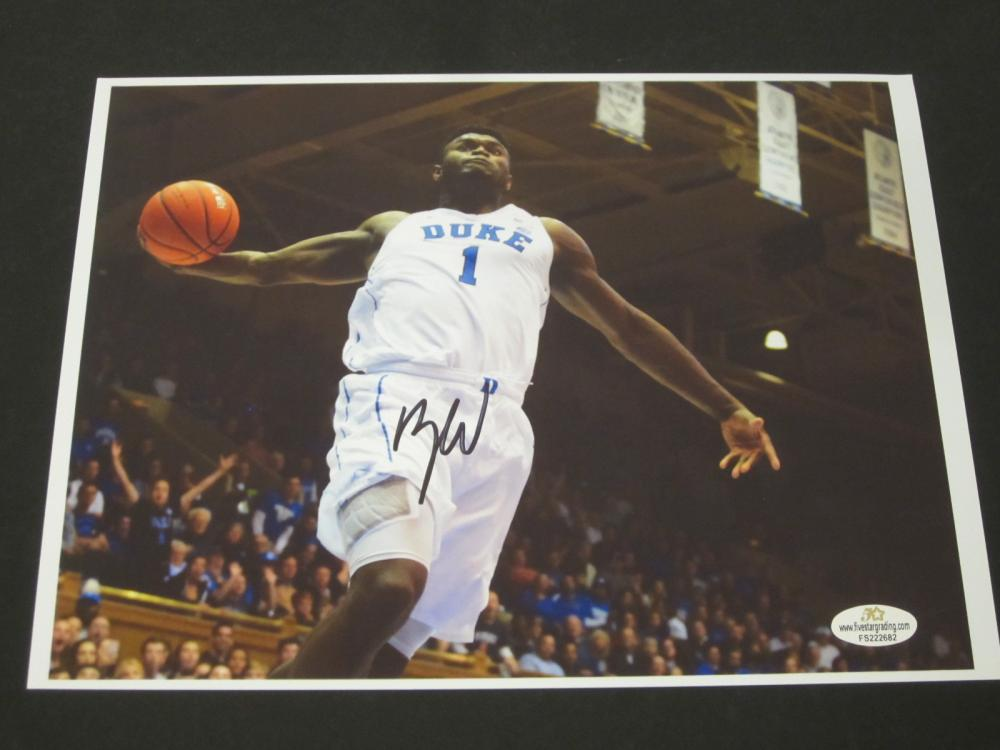 Zion Willamson Duke Blue Devils Signed Autographed 8x10 photo Certified Coa