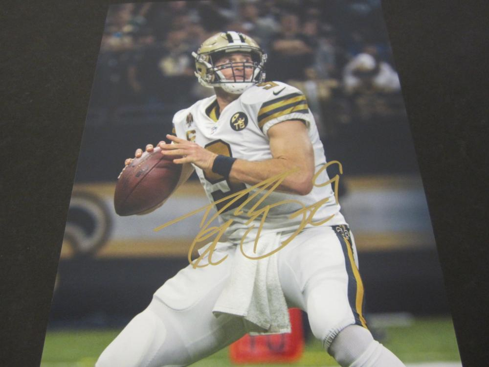 Drew Brees New Orleans Saints Signed Autographed 8x10 photo Certified Coa