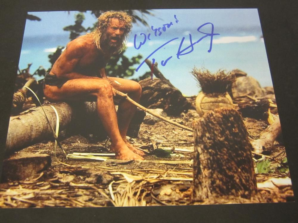 "Tom Hanks ""Castaway"" Signed Autographed 8x10 photo Certified Coa"