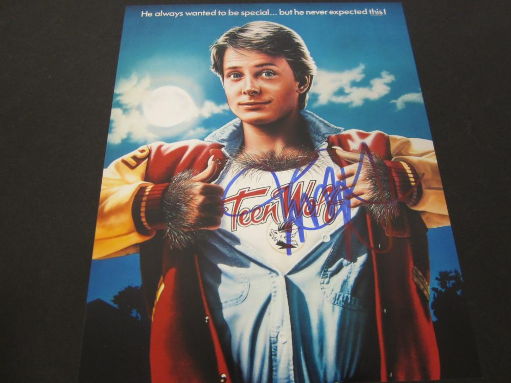 Michael J Fox Teen Wolf Signed Autographed 8x10 photo Certified Coa