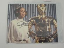 STAR WARS CARRIE FISHER, ANTHONY DANIELS SIGNED AUTOGRAPHED 8X10 PHOTO CERTIFIED COA