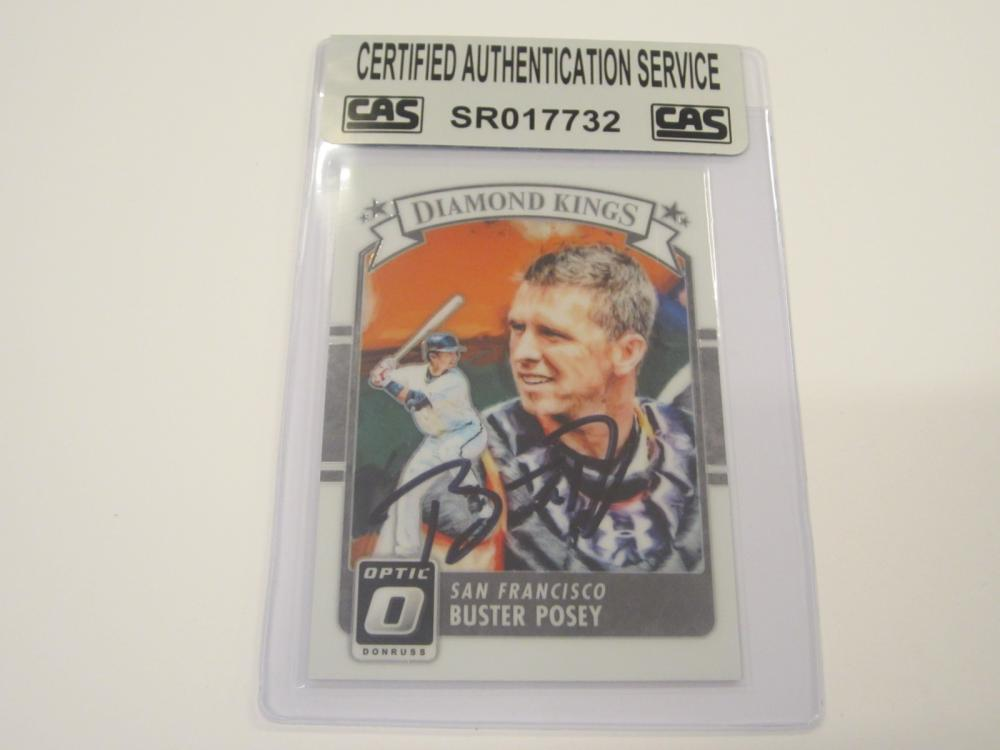 BUSTER POSEY SIGNED AUTOGRAPHED GIANTS CARD CAS COA