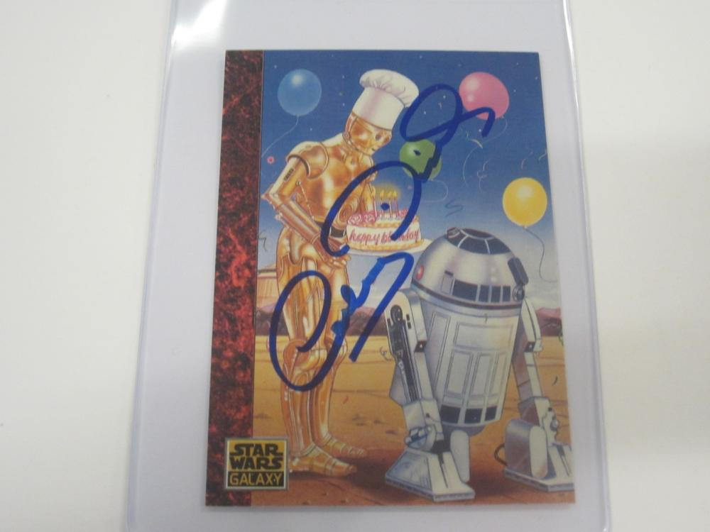 ANTHONY DANIELS SIGNED AUTOGRAPHED STAR WARS CARD COA