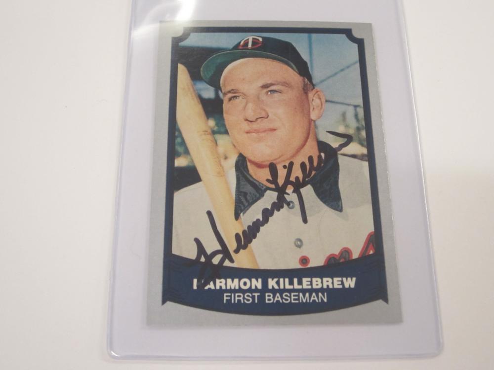 HARMON KILLEBREW SIGNED AUTOGRAPHED TWINS CARD COA