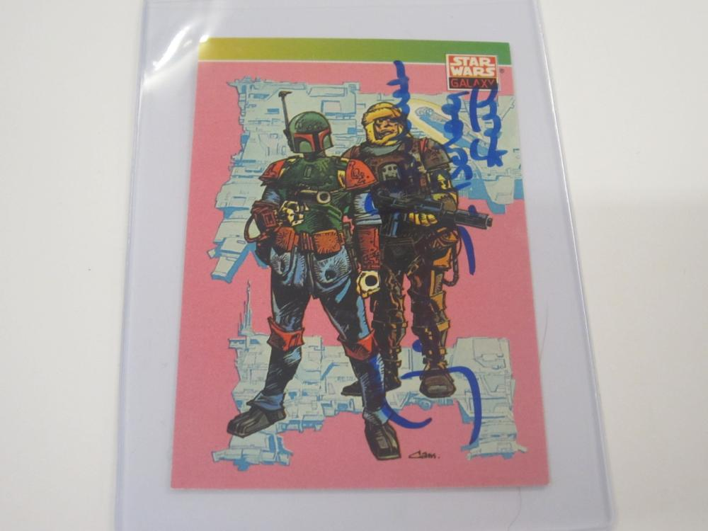 JEREMY BULLOCH SIGNED AUTOGRAPHED STAR WARS CARD COA