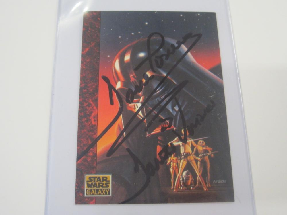 DAVID PROWSE SIGNED AUTOGRAPHED STAR WARS CARD COA