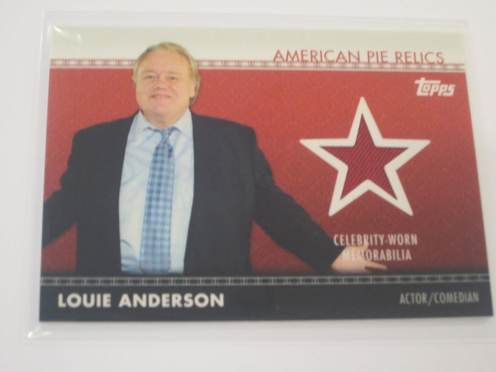2011 TOPPS AMERICAN PIE RELICS LOUIE ANDERSON PIECE OF SCREEN WORN CARD