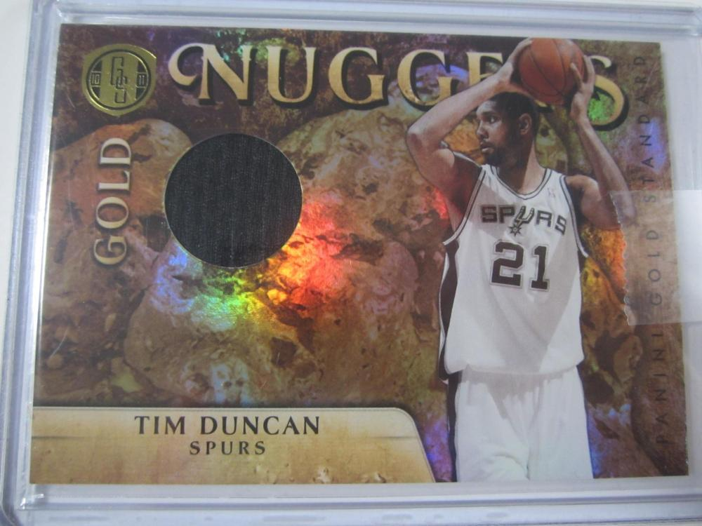 2011 PANINI BASKETBALL TIM DUNCAN PIECE OF GAME USED SPURS JERSEY CARD