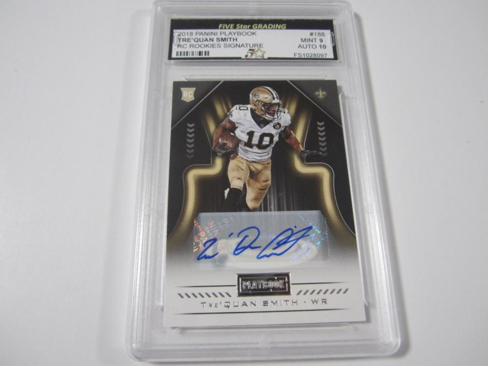 Trequan Smith 2018 Panini Playbook RC Rookie Selection Signature Mint 9 Auto 10 Five Star
