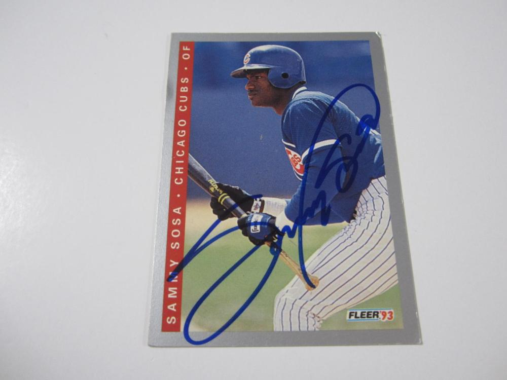 Sammy Sosa Chicago Cubs Hand Signed Autographed Card Certified